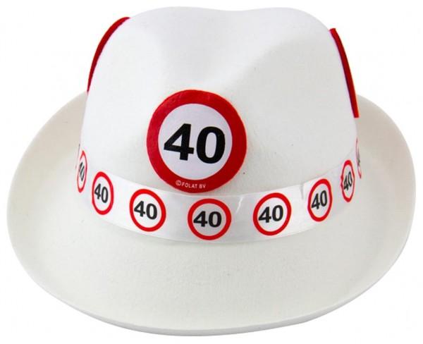 Panneau de signalisation 40 chapeau en feutre
