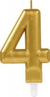 Goldene Zahlenkerze 4