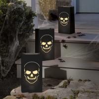 6 Boneyard Windlichter 28 x 15 x 9cm