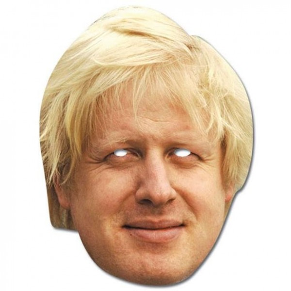 Boris Johnson Pappmaske