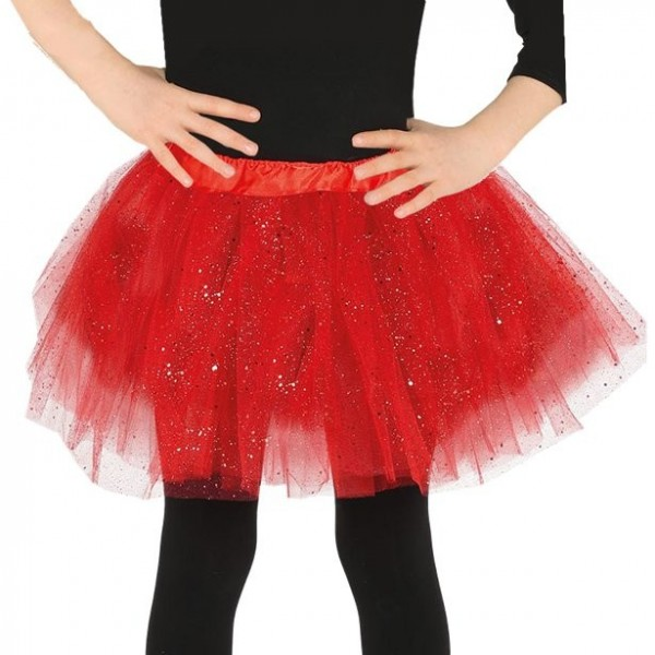 Tutú rojo brillante para niños
