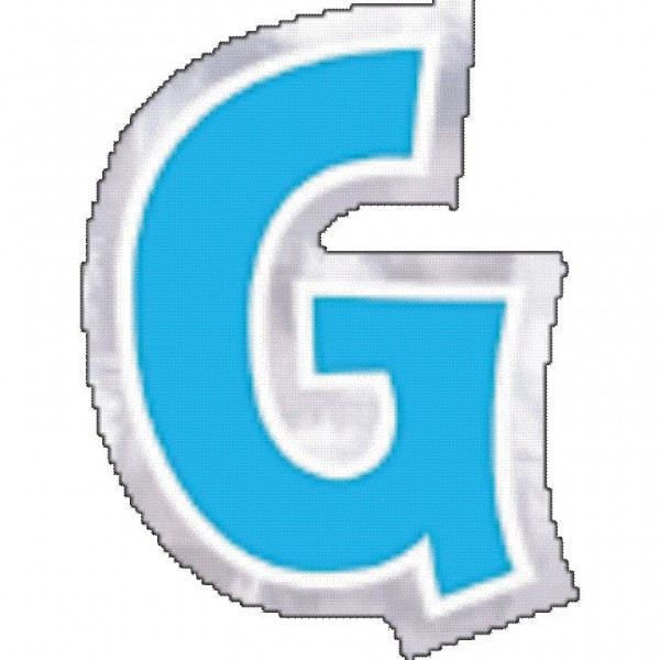 48 balloon stickers letter G