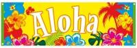 Großes Aloha Hawaii Banner 74 x 220cm