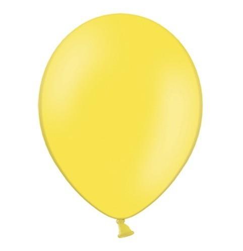 10 ballons jaune citron 27cm