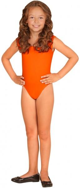 Body enfant sans manches orange 2