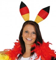Deutschland Hasenohren Fan Haarreifen