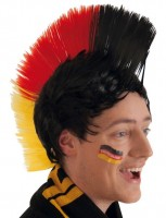 Deutschland Iro Fan Perücke