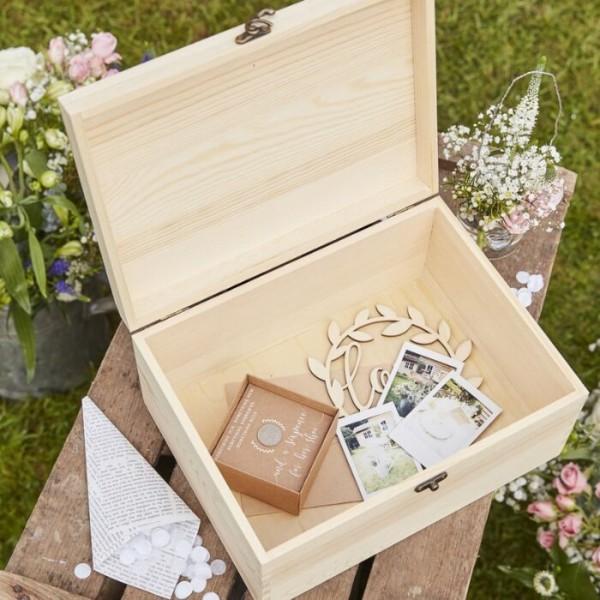 Notre boîte en bois Souvenirs de mariage