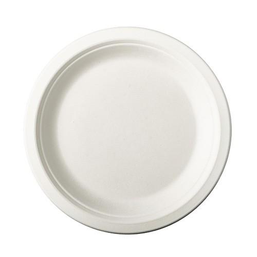 50 round sugar cane plates Tosca 18cm