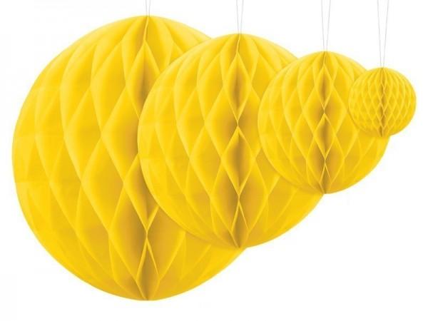 Boule nid d'abeille Lumina jaune 40cm