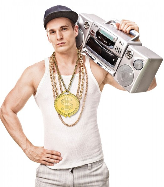 Gouden Hip Hop ketting 58cm