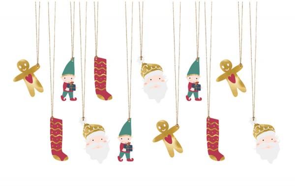 12 étiquettes-cadeaux de Noël classiques