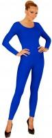 Bodysuit met lange mouwen voor dames blauw