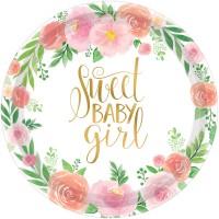 8 Sweet Baby Girl Teller 18cm