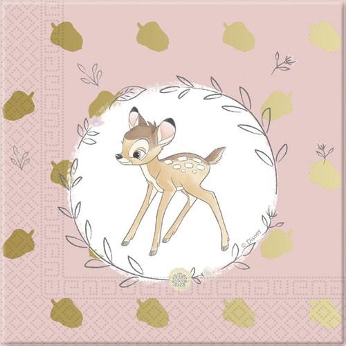 20 Bambis Welt Servietten 33cm