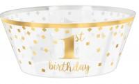 Goldstar 1er bol d'anniversaire 25cm