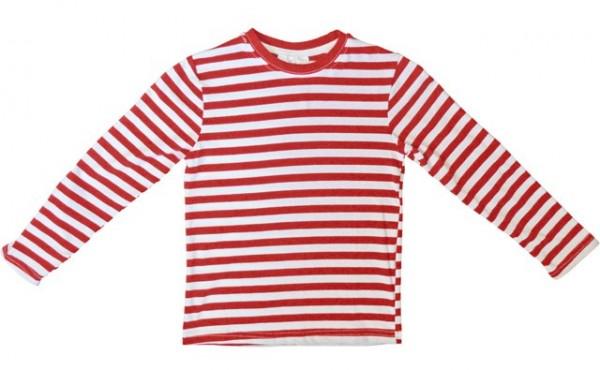 Camisa de rayas para niños rojo blanco