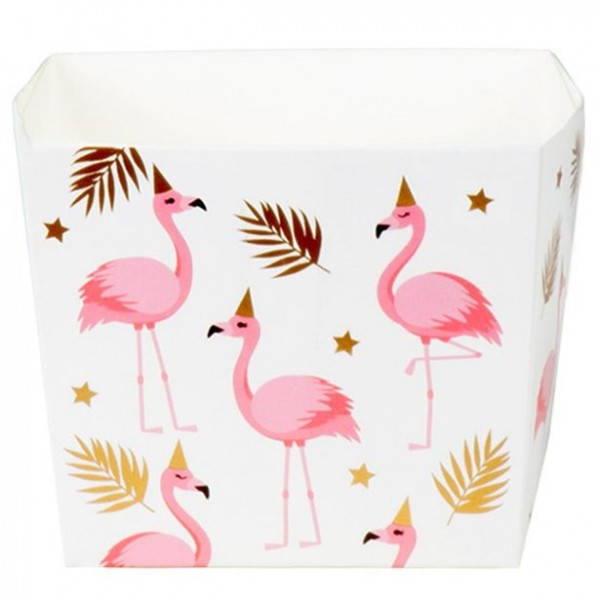 6 Cajas de Snack Flamingo Party 400ml