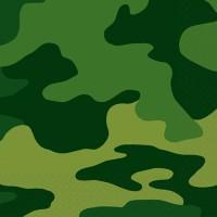 16er Set Camouflage Serviette Military Style