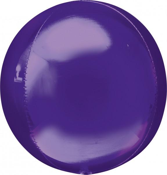 Kugelballon in Dunkellila
