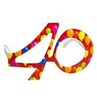 Partybrille 40.Geburtstag rot