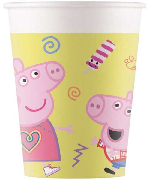 8 Peppa Pig Spieletag paper cups 200ml