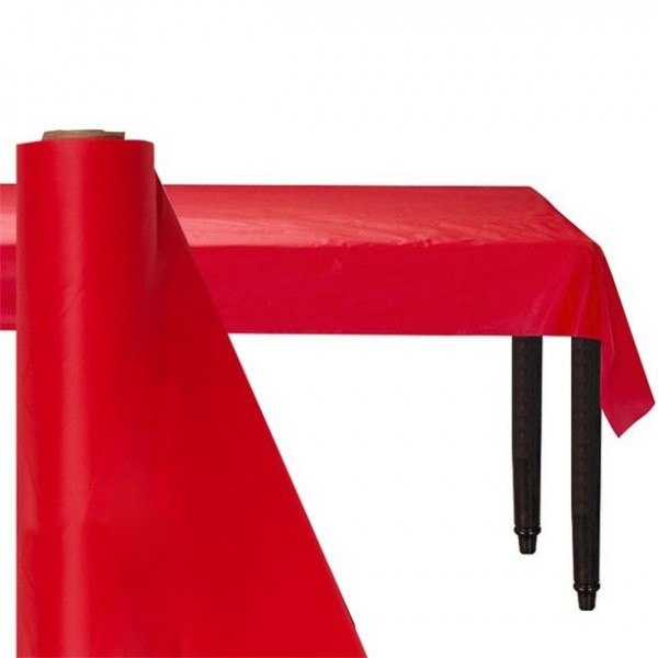 XXL tablecloths roll red 76m
