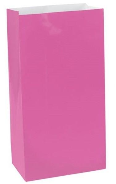 12 bolsas de papel rosa Basilea 16,5cm