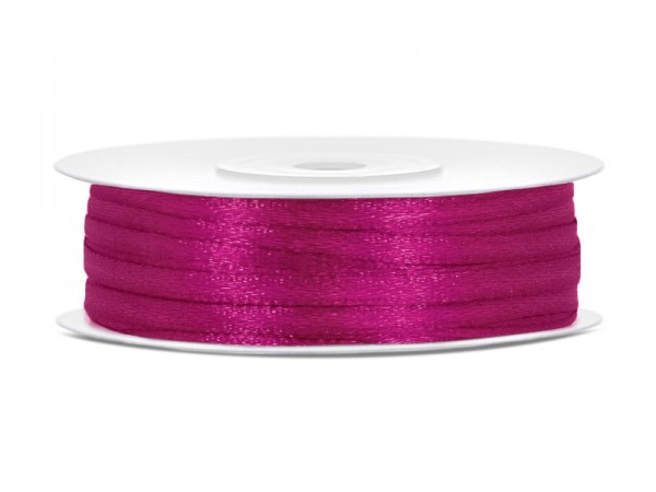 25m satin ribbon fuchsia 3mm wide