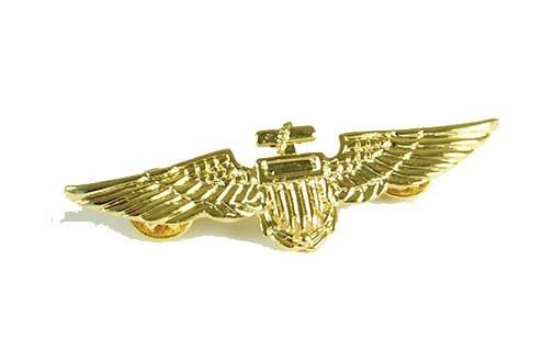 Goldenes Piloten Flieger Abzeichen