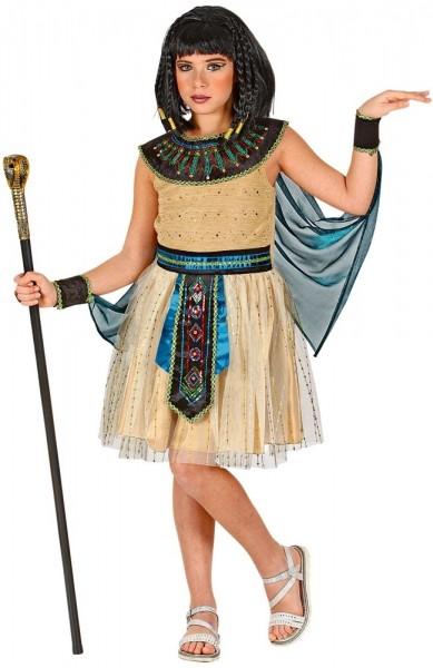 Pharaonin Glitzer Kostüm für Mädchen