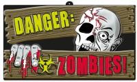 Zombie Town Warnschild 43,8 x 25cm