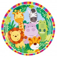 8 Safari Party Pappteller 23cm