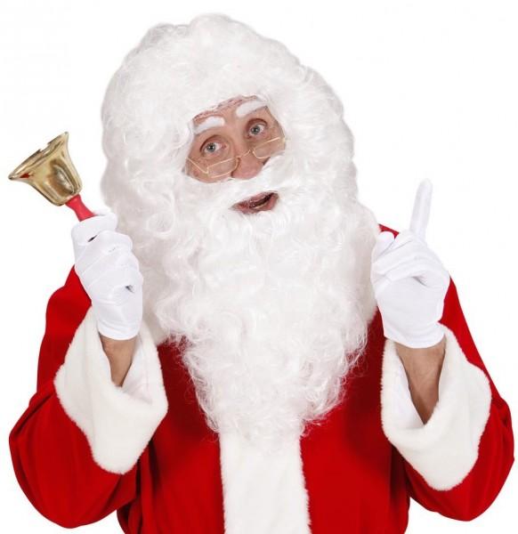 Weiße Weihnachtsmann Perücke Mit Rauschebart