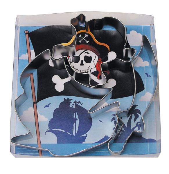 3 Piraten Crew Ausstechformen