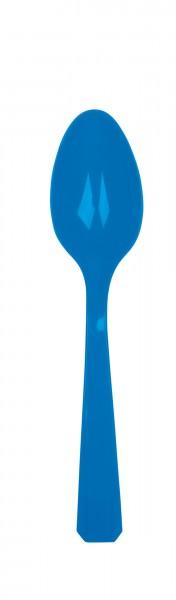10 cuillères en plastique Amalia, bleu royal