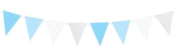 DIY One Star Wimpelkette silber-blau 1,3m