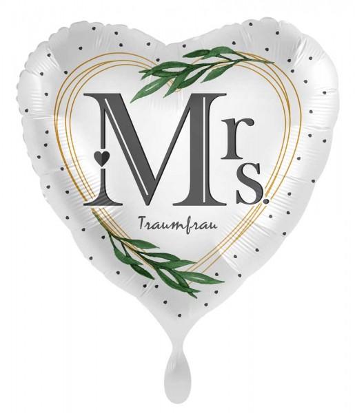 Herz Folienballon Traumfrau 45cm