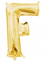 Mini Folienballon Buchstabe F gold 35cm