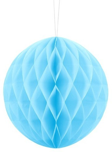 Honeycomb ball Lumina azure blue 20cm