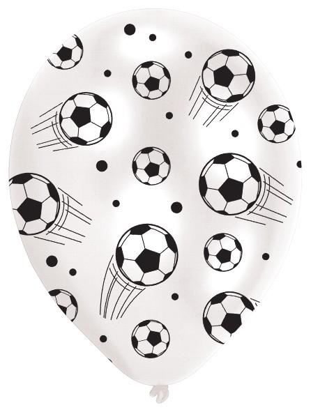 6 Fußball Party Luftballons 27,5cm