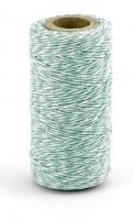 50m Baumwollgarn Mint-Weiß