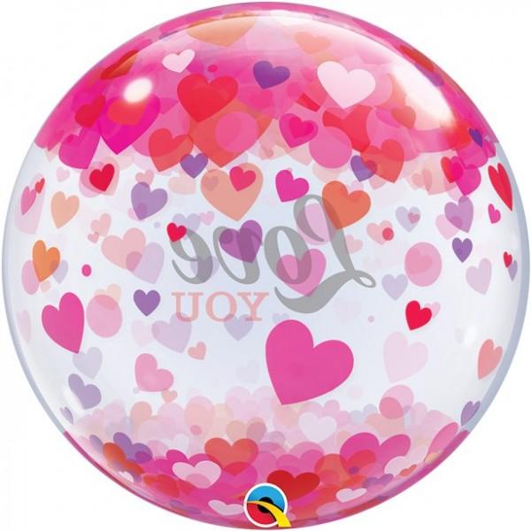 Transparenter Love Orbz Ballon 55cm