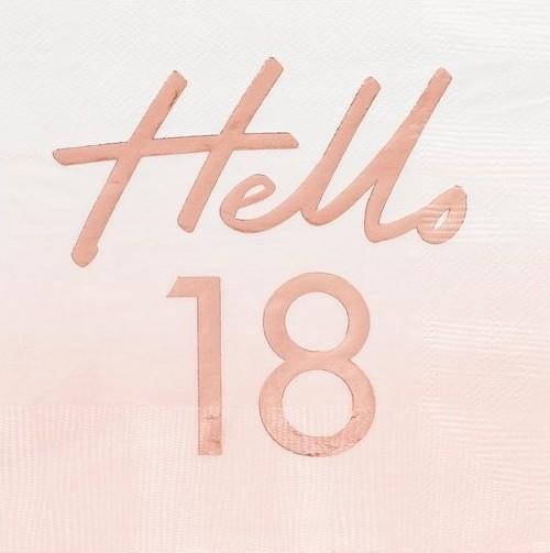 18 servetten Hallo 18 rosé goud 33cm