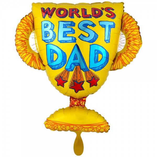 Worlds Best Dad Foil Balloon XXL 71cm