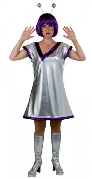 Silbernes Spacekostüm Für Damen