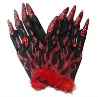 Rote Dämonenhandschuhe
