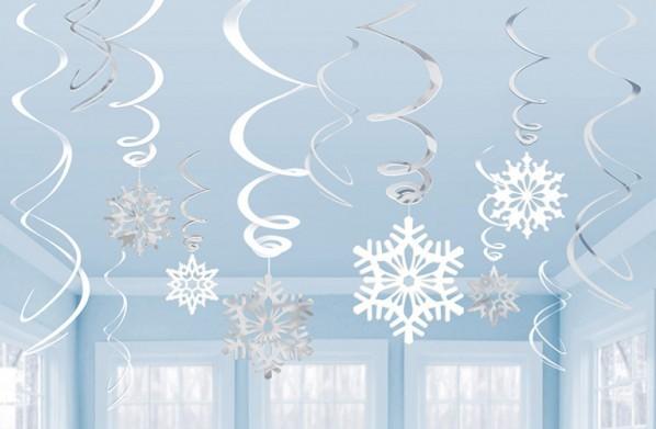 12 sneeuwvlokken storm spiraal hanger