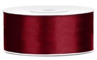 25m Satin Geschenkband burgunder 25mm breit