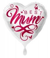 Best Mum Herz Folienballon 43cm